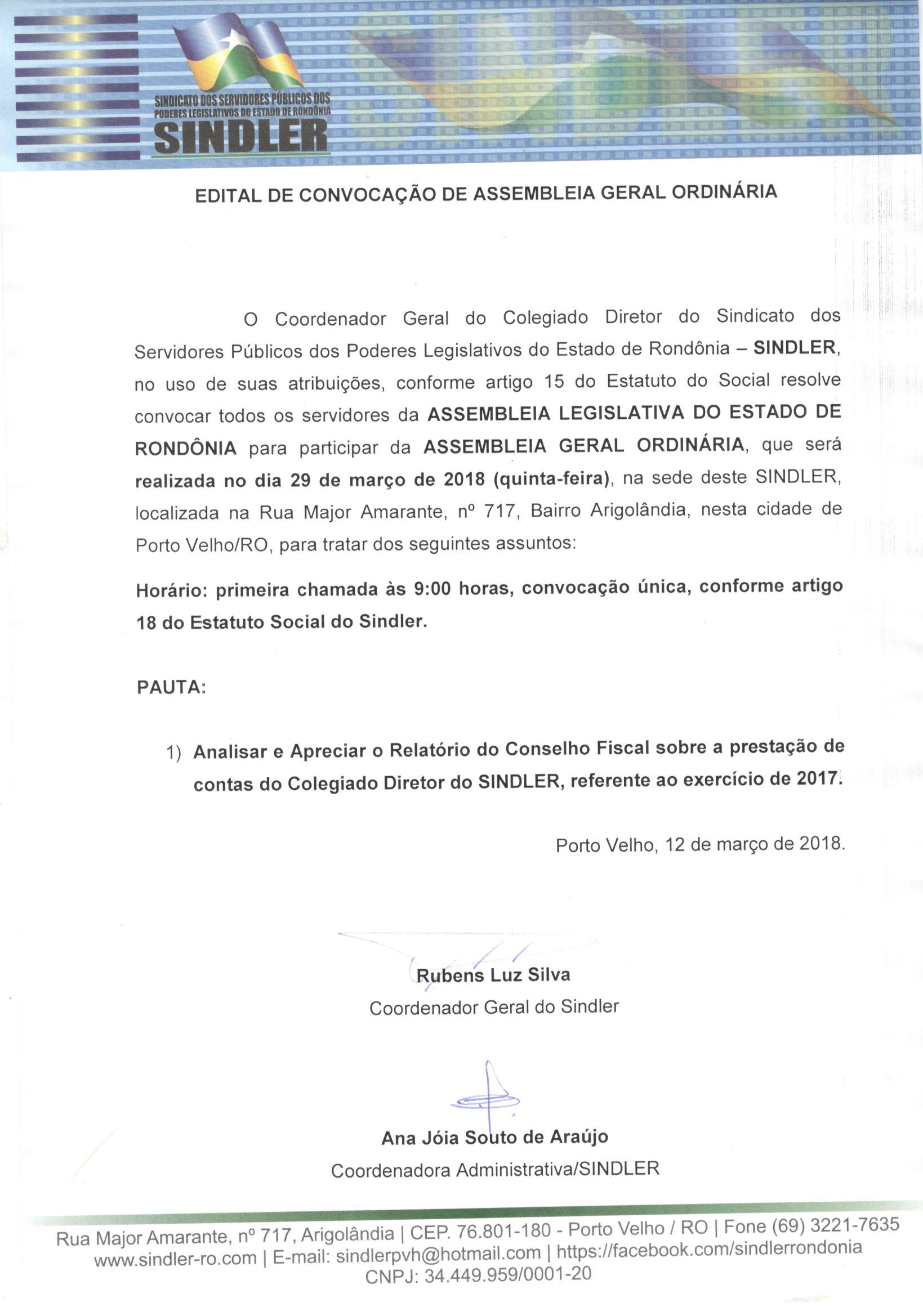 EDITAL CONVOCACAO AGO 29 MARCO2018